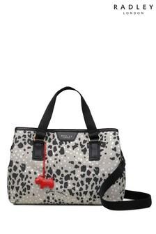 حقيبة جيوب متعددة سحاب علوي متوسطة الحجم London Leopard Oilskin من Radley