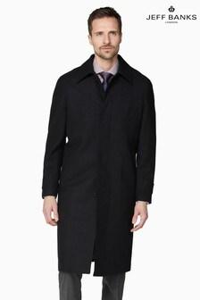 Jeff Banks Black Roma Men's Black Overcoat