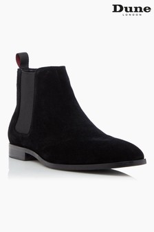 Dune London Mantle Black Suede Chelsea Boots