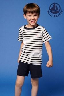 Petit Bateau Navy Iconic Stripe Short Pyjamas