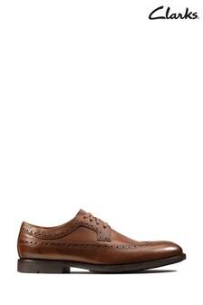 Clarks British Tan Lea Ronnie Limit Shoes