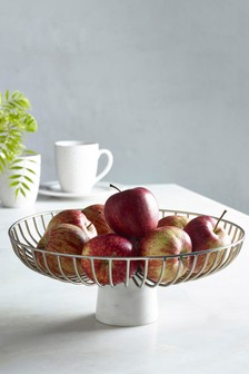 Marble Footed Fruit Bowl