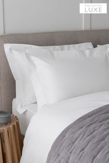 Set of 2 White Collection Luxe 400 Thread Count 100% Egyptian Cotton Pillowcases
