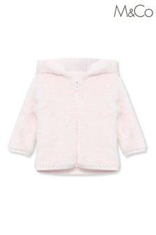 Różowa kurtka M&Co ze sztucznego kożuszka