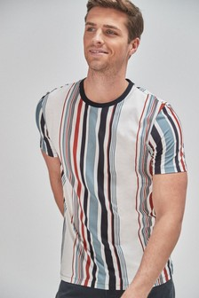 Vertical Stripe Regular Fit T-Shirt