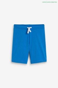 Benetton Blue Jersey Shorts