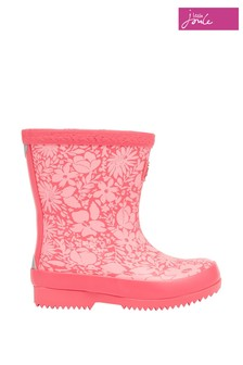 Joules Baby Pink Print Tall Printed Wellies