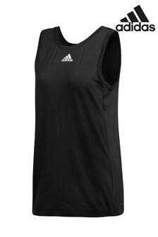 Черная майка adidas с 3мя полосками