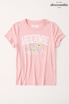 Abercrombie & Fitch ピンク Mosse フラワー Tシャツ