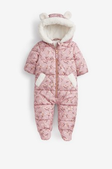 Floral Print Shower Resistant Snowsuit (3mths-7yrs)