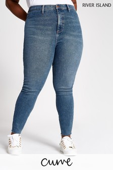 River Island Curve Kaia Regina Jeans, mittlere Auth-Waschung