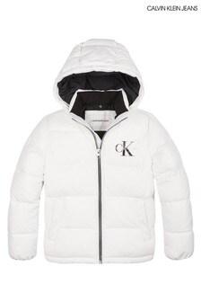 Calvin Klein White Essential Padded Jacket