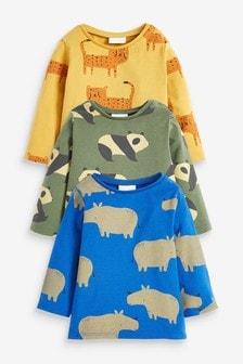 Набор из 3 эластичных футболок с рисунком (0 мес. - 2 лет)