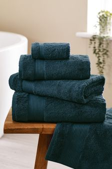 Dark Teal Green Egyptian Cotton Towels