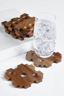 Suporturi pentru pahare cu model zar Puzzle