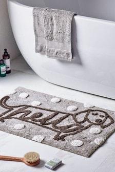 Tappetino da bagno con bassotto