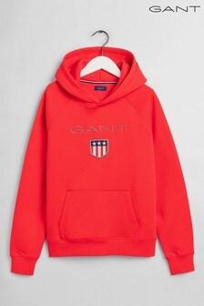 Sudadera con capucha y logo de escudo de niño adolescente de GANT