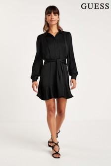 Guess Black Hope Wrap Dress