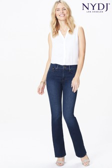 NYDJ Mid Blue Denim Barbara Boot Cut Jeans