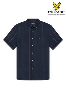 Lyle & Scott Vertical Stripe Short Sleeve Oxford Shirt
