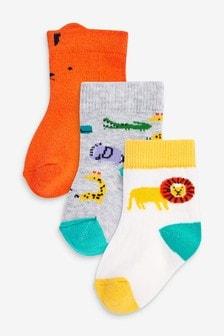 Набор носков с мультяшным принтом (3 пары) (Младшего возраста)