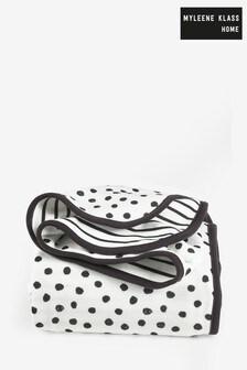 Myleene Klass Monochrome Mono Spots & Stripes Jersey Throw