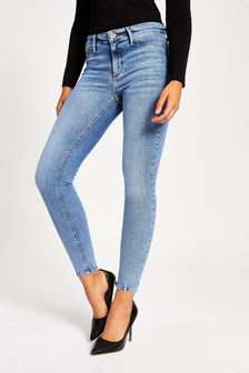 River Island Mid Auth Molly Rock jeans