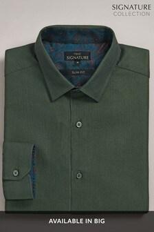 قميص بخيوط نسيج متعرجة من مجموعة Signature