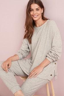 Maternity/Nursing Cosy Waffle Popper Side Sweater