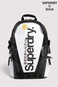 Superdry Rucksack aus Folienmaterial, Weiß