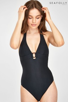 Seafolly® Black Capri Sea Halter Swimsuit