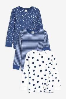 3 Pack Star/Stripe Snuggle Pyjamas (9mths-16yrs)