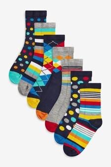 7 Pack Bamboo Rich Socks (Older)