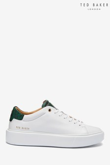 Ted Baker White Snake Effect Piixie Leather Trainers