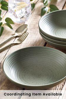 Green Bronx Set of 4 Pasta Bowls