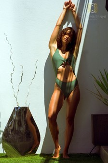 West Seventy Nine Green Nevada Cut Out Swimsuit