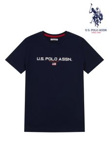 Niebieska koszulka sportowa U.S. Polo Assn