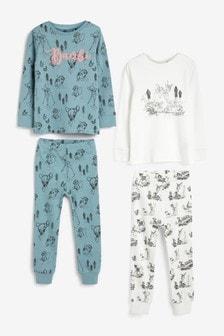2 Pack Bambi Cotton Pyjamas (9mths-8yrs)