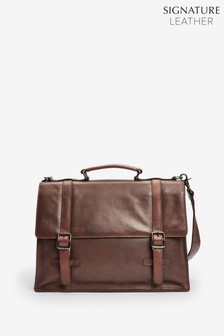 Signature Leather Messenger