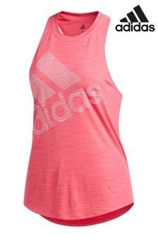 Розовая майка с логотипом adidas Badge Of Sport