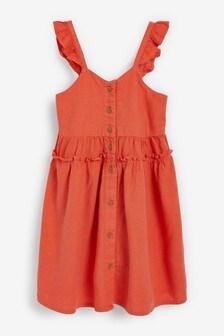 Льняное платье (3-16 лет)