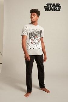 Piżama z graficznym nadrukiem i długimi spodniami