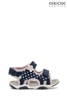 Синие сандалии для маленьких девочек Geox Agasim