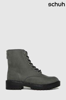 Серые ботинки на шнуровке Schuh Amelia