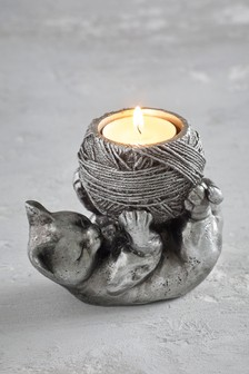 Подставка для коротких свечей в виде кошки