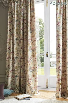 Voyage Ilinizas Floral Lined Pencil Pleat Curtains