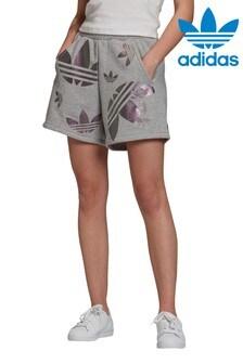 adidas Originals Grey Repeat Logo Shorts