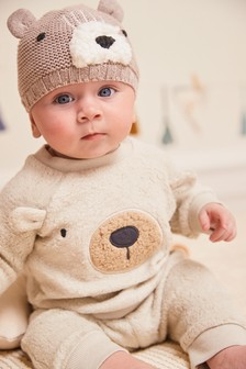 Fleece Bear Sweater And Joggers Set (0mths-2yrs)