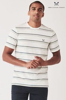 חולצתטי עם פסים בלבן שלCrew Clothing