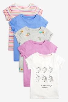 Set5 tricouri cu mânecă scurtă și unicorn (3-16ani)
